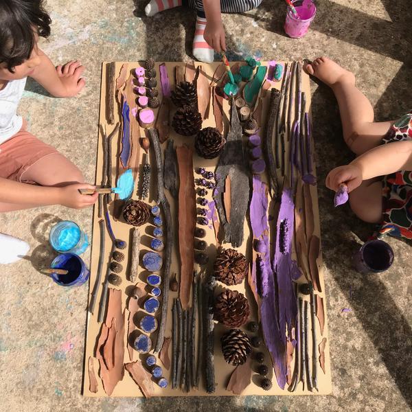 Nature art kids