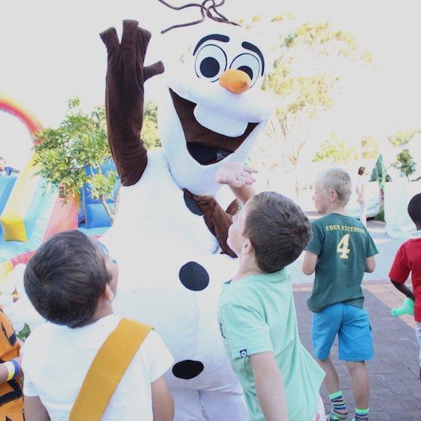 Olav Mascot Hire Bazinga Parties Cape Town