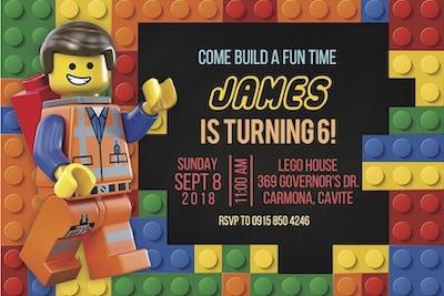 Lego Invite Digital Download Cape Town Bazinga Parties