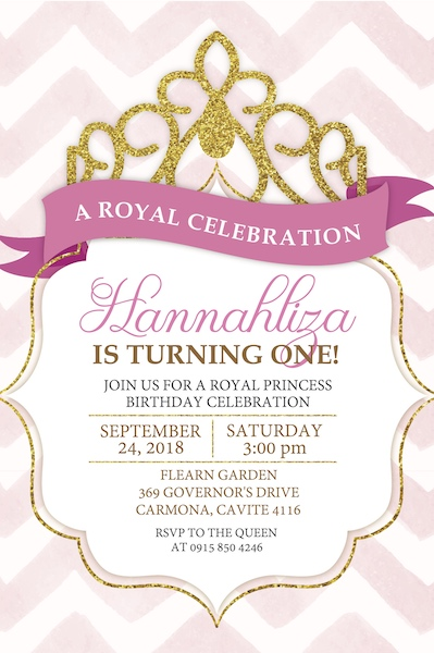 Princess Digital Party Invited Cape Town Bazinga Partiesa